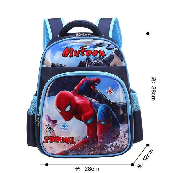 Cartoon boys and girls backpack Backpack Blue spider man