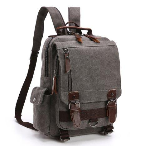 Fashion canvas business Men backpack Backpack Gray