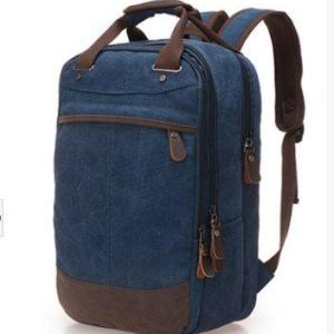 College wind canvas Student backpack Backpack Royal blue