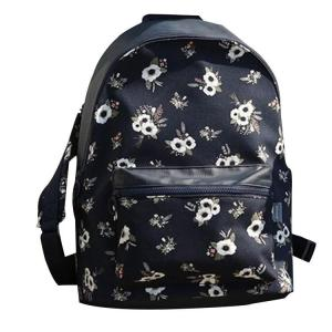 Leisure fashion large capacity women's School backpack Backpack Dark blue