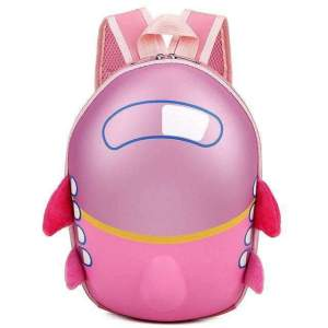 Cute Airplane Cartoon Eggshell Kids Backpack Backpack Pink