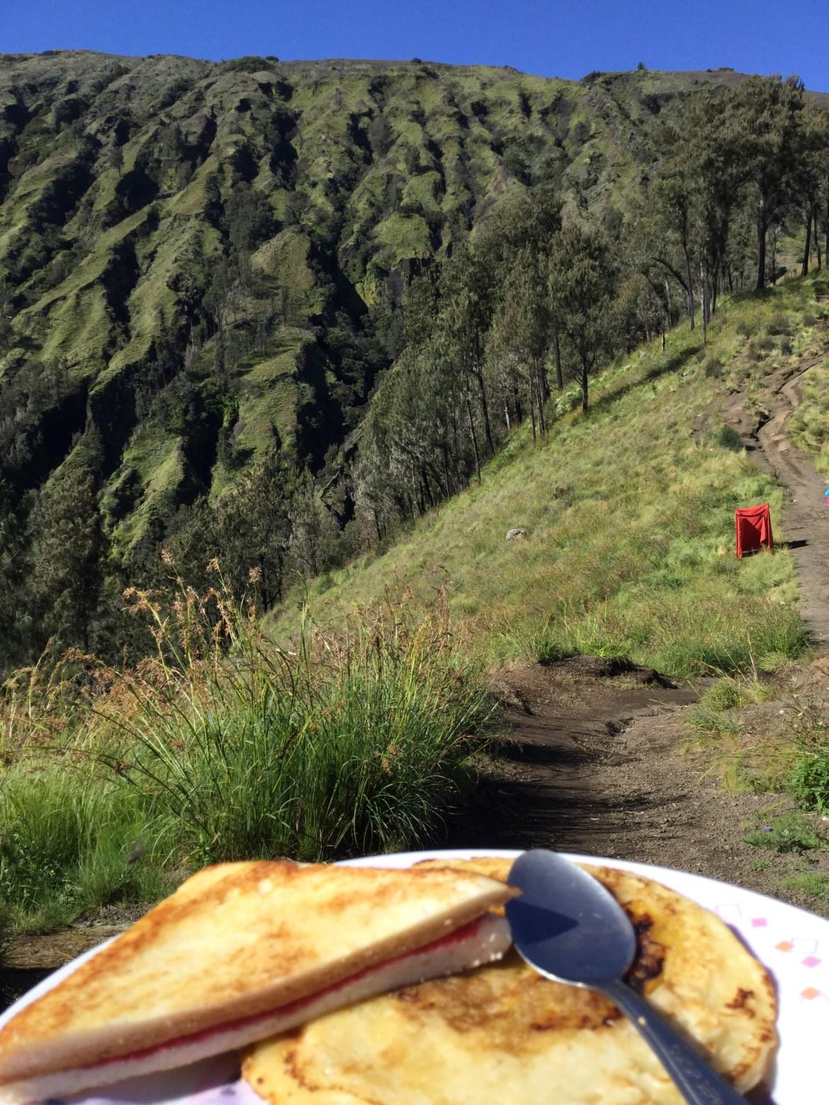 Mount Rinjani Breakfast