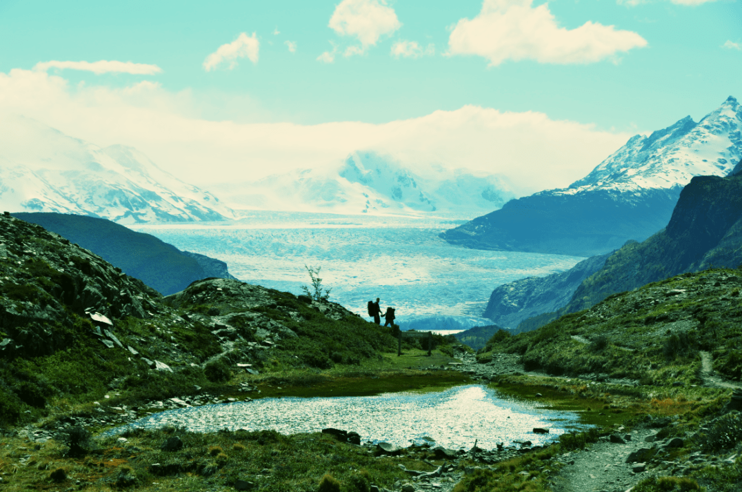 View on the Grey Glacier