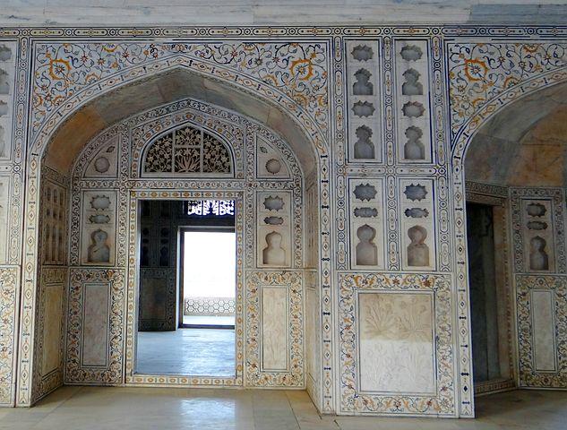 インドアーグラ城内部の高画質画像です。