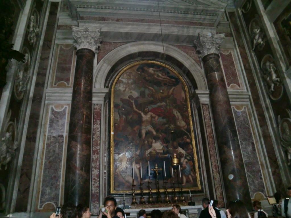 聖セバスティアヌス礼拝堂にある聖ヨハネ・パウロ2世のお墓。