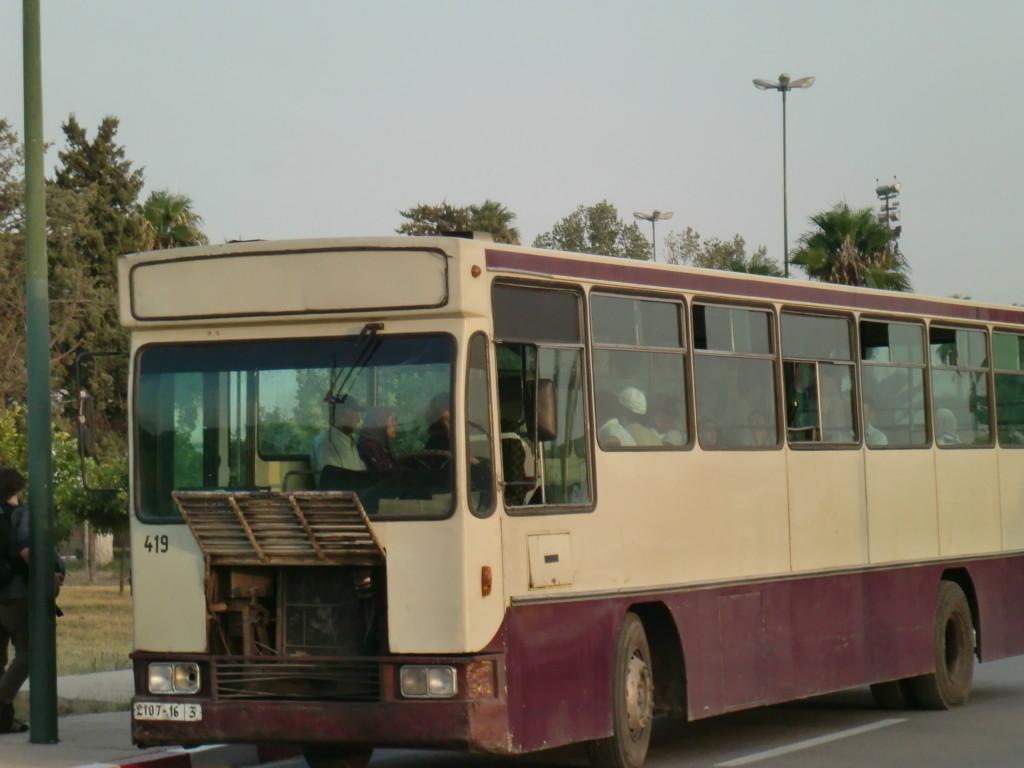 バスがボロい。壊れそう。ヨーロッパを離れアフリカに来たことを実感。