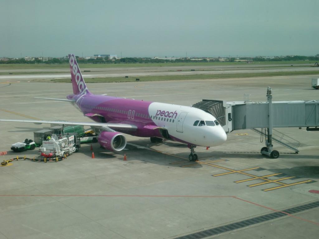 格安航空会社Peachで、関西空港から台湾(台北)の桃園空港へ