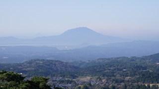 霧島温泉郷から眺める桜島