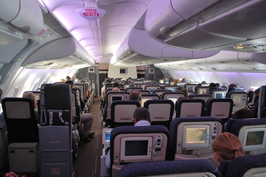 Air France economy class cabin