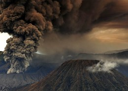 Mount Bromo aflame
