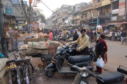 The hustle and bustle of Chandni Chowk is incredible