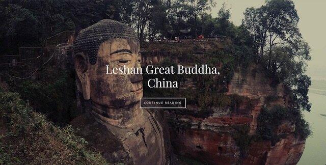 leshan buddha front