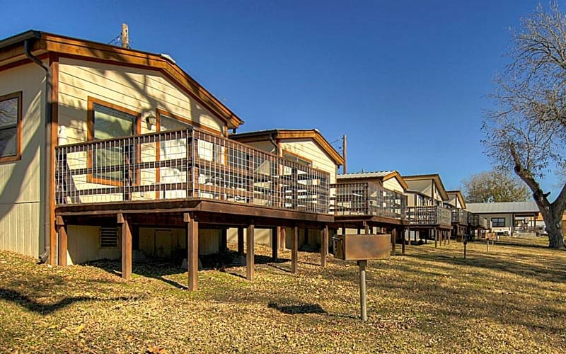 If you're just passing through or staying a while (like the spirits that haunt the grounds), this is a nice spot to setup. The Rio Guadapule Resort is believed to be haunted, as many RV parks in Texas are.