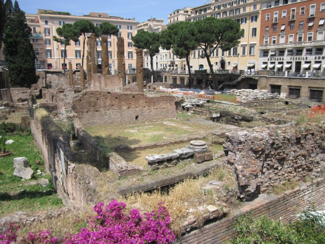 Some ruins – a common sight in Rome