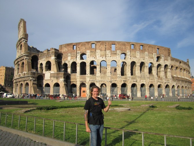 Me in front of the Colosseum