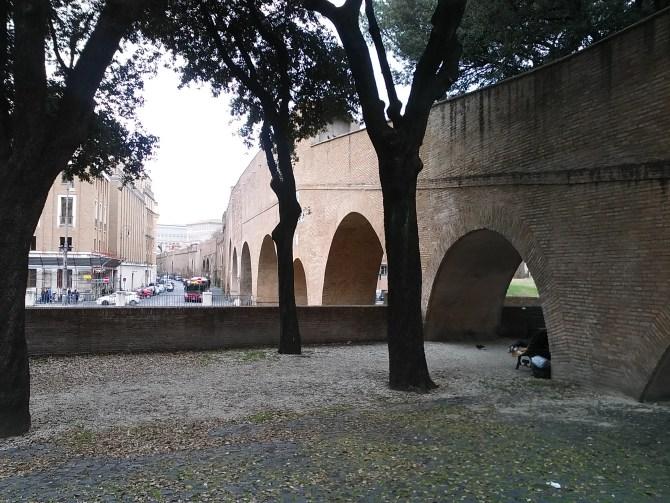 The Passetto di Borgo towards the Vatican