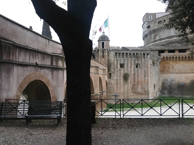 And the Passetto di Borgo towards the Castel Sant'Angelo