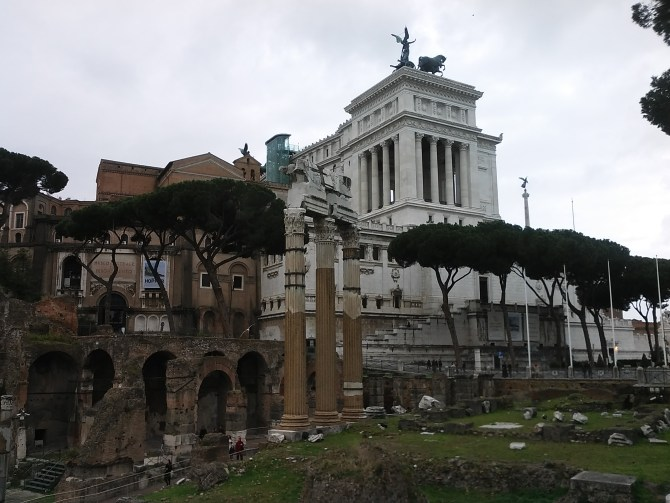 The Altare della Patria, which is dedicated to Victor Emmanuel, the first King of a unified Italy.