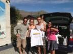Stavros, Vivi, Pilar & the funny birthday gift