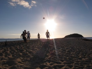 Sand football with the Spanish & Italian dudes