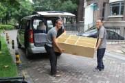 Hong Wei & me helping move