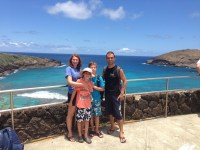 With Kristina & her 2 boyz @ Hanauma Bay