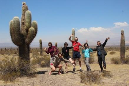 With Pauline, Laura, Virginie, Damien & Wancy @ Parque Nacional Los Cardones