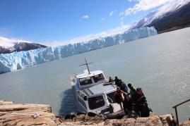 Ferry on Rico Lake to Glaciar Perito Moreno