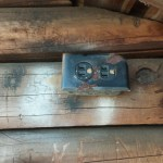 Prank outlet at the Legend Wood Shelter