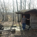 Dad at the Legend Wood shelter
