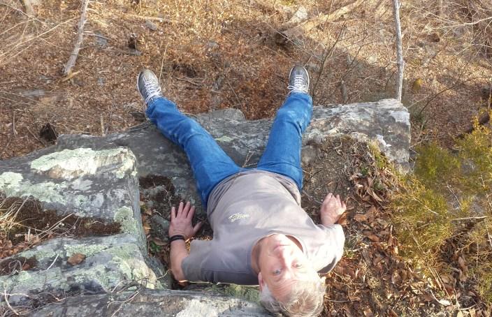 Dad sitting on the edge