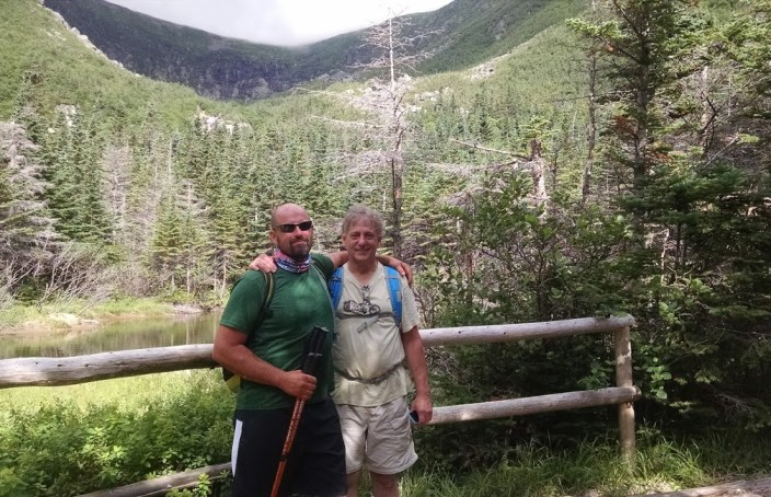 Dad and I hermit lake