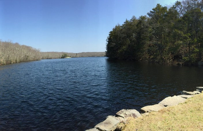view from Green falls Dam