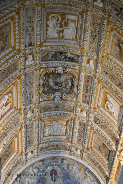 One of the many beautiful ceilings at the Palace