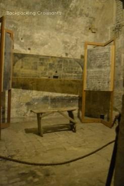 A prison room