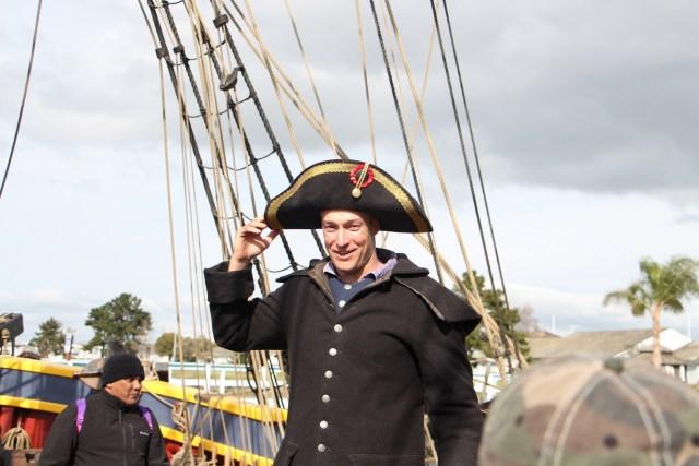 Captain Dork Hat. Sorry, Battle Hat. He called it his Battle Hat.