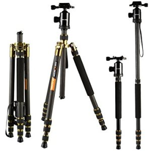 K&F Concept TC2534 Lightweight Portable Camera Tripod