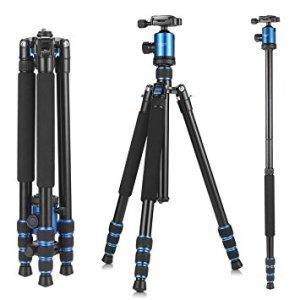 KetDirect Aluminum Compact Lightweight Professional Camera Tripods