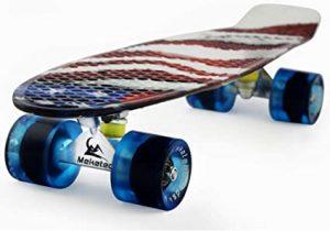 Meketec Complete Mini Cruiser Retro Skateboard for Kids