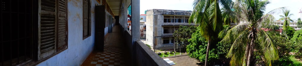 Girls Who Travel | a panoramic view of Tuol Sleng