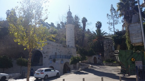 The Mosque Tower Above Mary's Spring in Ein Karem