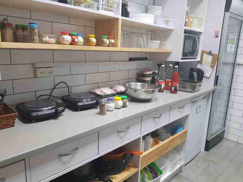 The common kitchen at Little Tel-Aviv