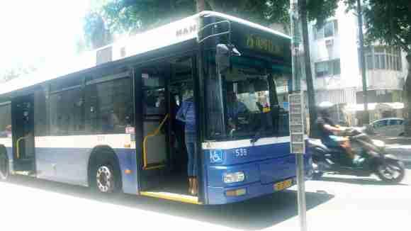 Dan bus in Tel Aviv