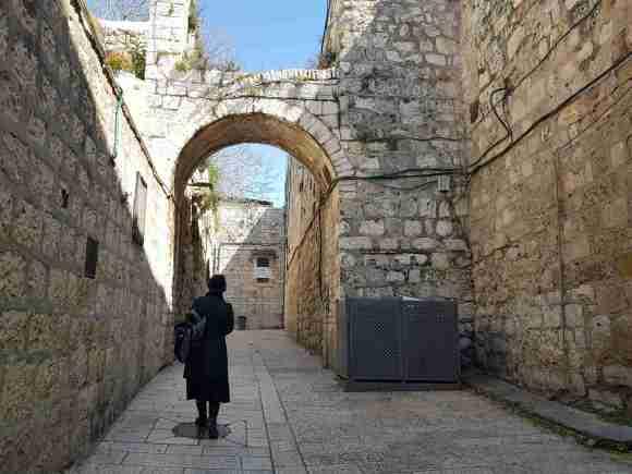 A quiet street in the Armenian Quarter Jerusalem