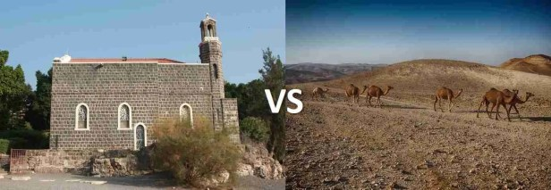 Christian sites VS less - North or South Israel