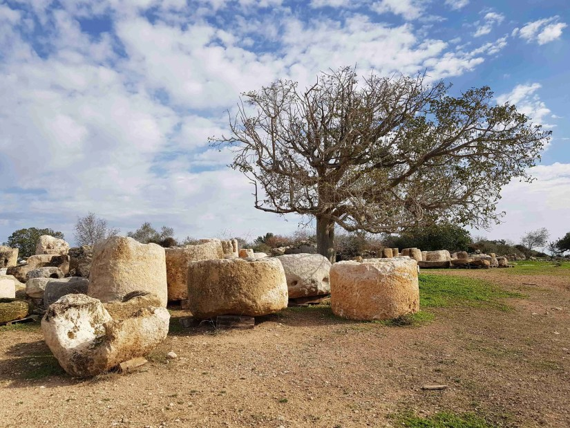 The architectural items in Beit Guvrin National Park