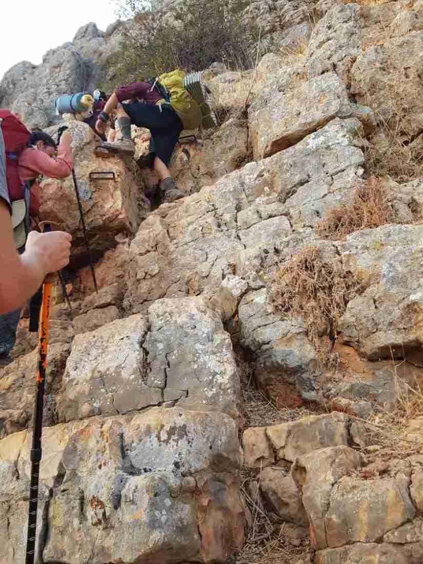 Climbing Mount Arbel