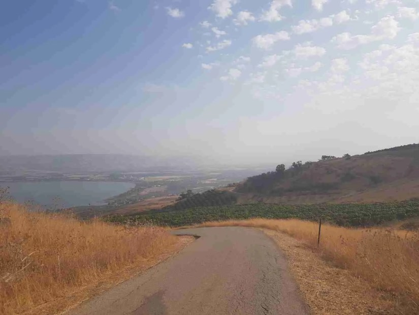 Descending to the Sea of Galilee on the Israel National Trail