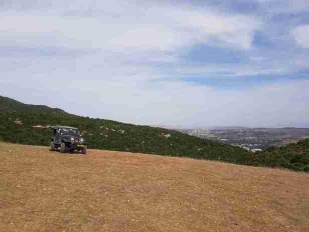 Jeep on Mount Meron