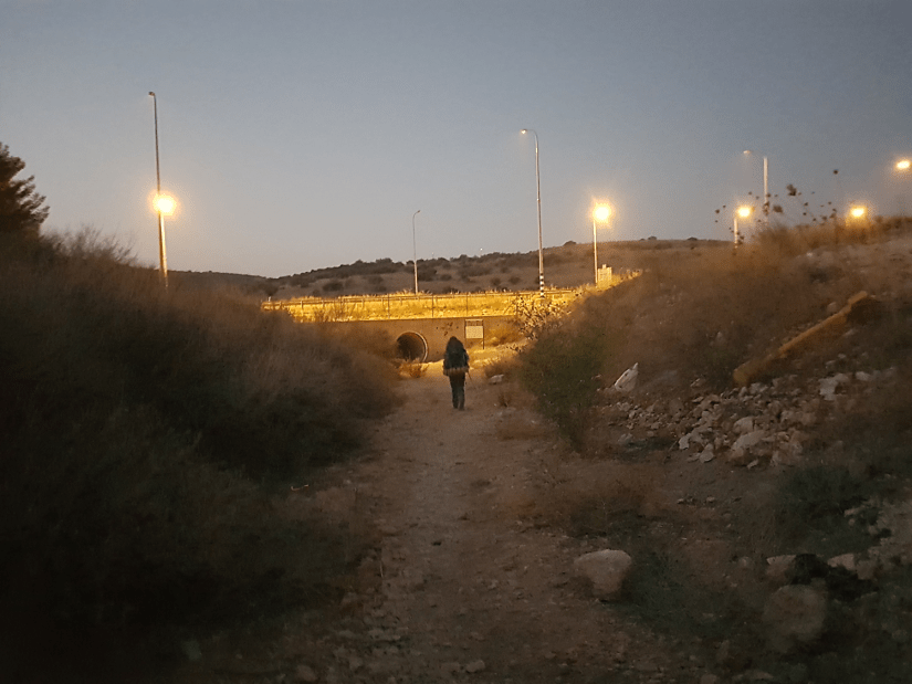 Tunnel on the Israel National Trail